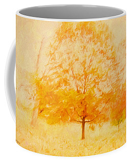 Autumn Trees Abstract Coffee Mug