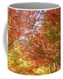 Autumn Trees Digital Watercolor Coffee Mug