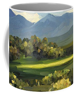 Coffee Mug featuring the painting Autumn Trees by Ivana Westin