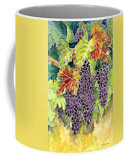 Autumn Vineyard In Its Glory - Batik Style Coffee Mug