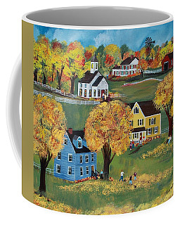 Coffee Mug featuring the painting Autumn by Virginia Coyle