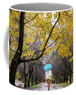 Coffee Mug featuring the photograph Autumn Walk by Vladimir Kholostykh