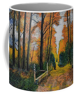 Autumn Way Coffee Mug by Ron Richard Baviello