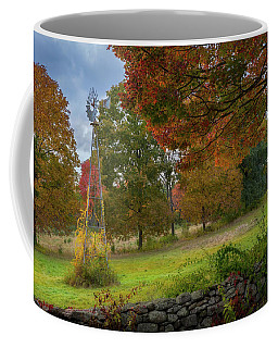 Coffee Mug featuring the photograph Autumn Windmill by Bill Wakeley