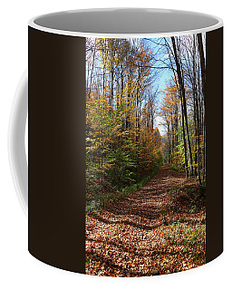 Autumn Woods Road Coffee Mug