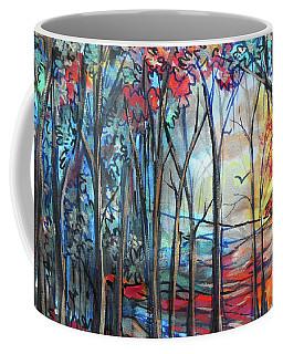 Autumn Woods Sunrise Coffee Mug