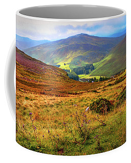 Coffee Mug featuring the photograph Autumnal Hills. Wicklow. Ireland by Jenny Rainbow