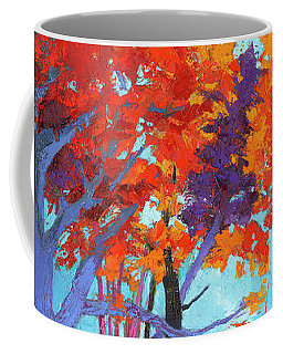 Coffee Mug featuring the painting Autumnal Landscape, Impressionistic Art by Patricia Awapara