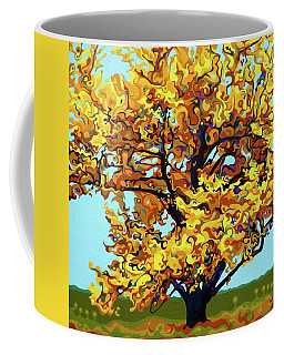 Autumnal Yellow Treet Coffee Mug