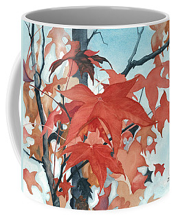 Coffee Mug featuring the painting Autumn's Artistry by Barbara Jewell