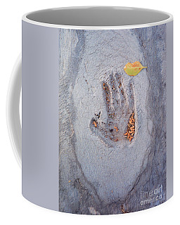 Autumns Child Or Hand In Concrete Coffee Mug