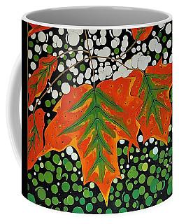 Coffee Mug featuring the painting Autumns Kiss by Kathleen Sartoris