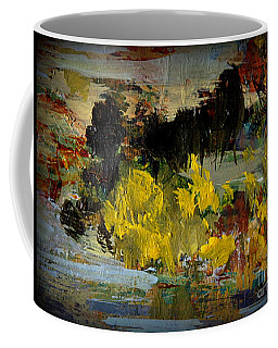 Coffee Mug featuring the painting Autumn's Last Days by Nancy Kane Chapman