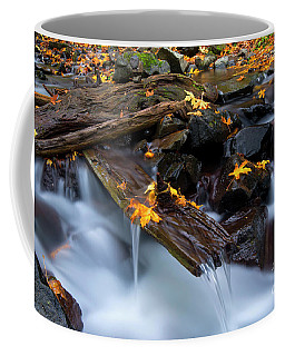 Coffee Mug featuring the  Autumn's Spillway by Mike Dawson