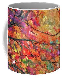 Autumns Splendorous Canvas Coffee Mug by Andrea Kollo