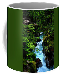 Avalanche Creek Waterfalls Coffee Mug