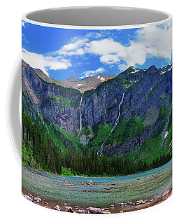 Avalanche Lake Panorama Coffee Mug by Greg Norrell