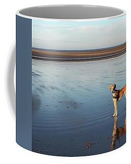 Ava's Last Walk On Brancaster Beach Coffee Mug