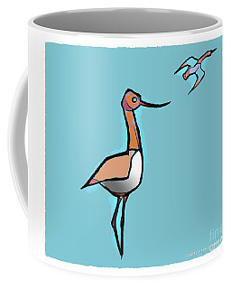Coffee Mug featuring the digital art Avocet Composition 3 by Art MacKay