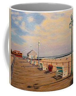 Coffee Mug featuring the painting Avon Pavilion by Joe Bergholm