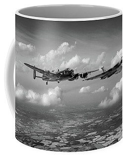 Coffee Mug featuring the photograph Avro Sisters Bw Version by Gary Eason