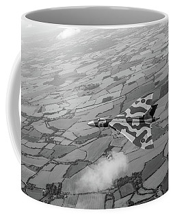 Avro Vulcan Over Essex Black And White Version Coffee Mug