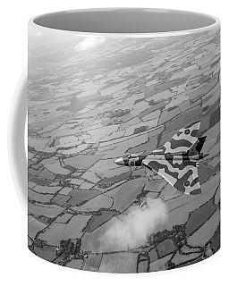 Avro Vulcan Over Essex Black And White Version Coffee Mug