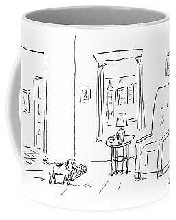 Awaiting Todays News Coffee Mug