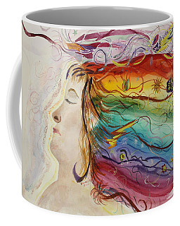 Coffee Mug featuring the painting Awakening Consciousness by Donna Walsh