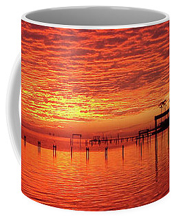 Awesome Santa Rosa Sunset Colors Panoramic Coffee Mug