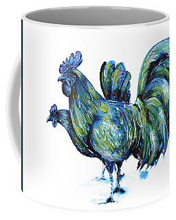 Ayam Cemani Pair Coffee Mug by Zaira Dzhaubaeva