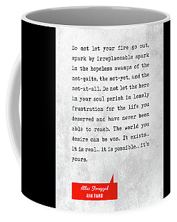 Ayn Rand Quotes - Atlas Shrugged Quotes - Literary Quotes - Book Lover Gifts - Typewriter Quotes Coffee Mug