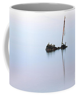 Coffee Mug featuring the photograph Ayrshire Shipwreck In Sunrise Ref3342 by Maria Gaellman