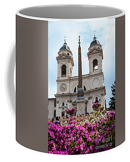 Azaleas On The Spanish Steps In Rome Coffee Mug