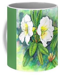 Coffee Mug featuring the painting Azaleas by Val Stokes