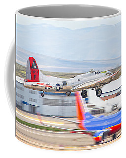 Coffee Mug featuring the photograph B-17 Bomber by Dart and Suze Humeston
