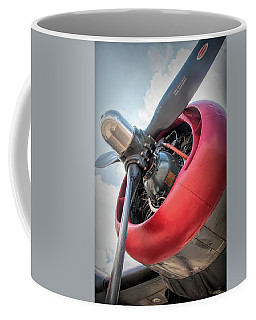 Coffee Mug featuring the photograph B-24j Liberator Engine by Kristia Adams
