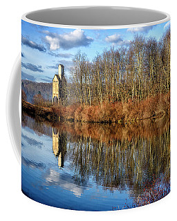 Coffee Mug featuring the photograph B And  O Pond With Sand House by Thomas R Fletcher