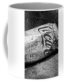 Coffee Mug featuring the photograph B And W Coke Can by Michael Hope