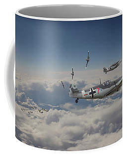 Coffee Mug featuring the digital art B17 - Luftwaffe Battleground by Pat Speirs