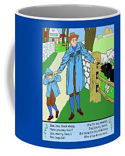 Coffee Mug featuring the painting Baa, Baa, Black Sheep Nursery Rhyme by Marian Cates
