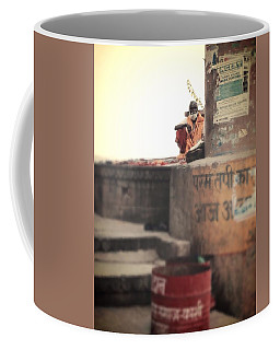Baba At The Ghats Coffee Mug
