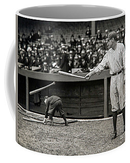 Babe Ruth At Bat Coffee Mug