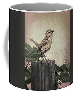 Coffee Mug featuring the digital art Baby Wren3 by Bonnie Willis