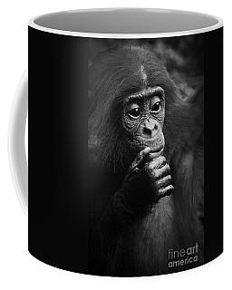 Coffee Mug featuring the photograph Baby Bonobo by Helga Koehrer-Wagner