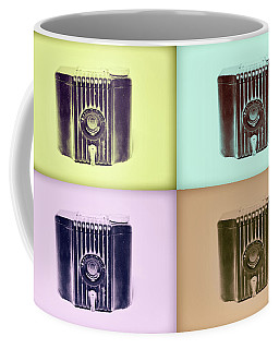 Baby Brownie Camera Four Panel Art Deco Print Coffee Mug