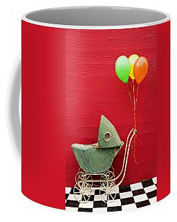 Baby Buggy With Red Wall Coffee Mug