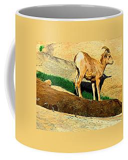 Baby Desert Bighorn In Abstract Coffee Mug