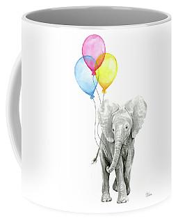 Baby Elephant With Baloons Coffee Mug