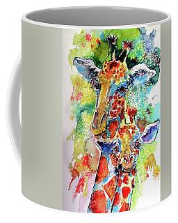 Baby Giraffe With Mammy Coffee Mug by Kovacs Anna Brigitta
